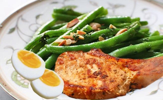 Μπριζόλα με φασολάκια και μισό αυγό - Marianna Lagoumidi | ΔΕΠ-Υ