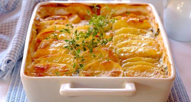 Τόνος με πατάτες φούρνου, μουστάρδα και μέλι